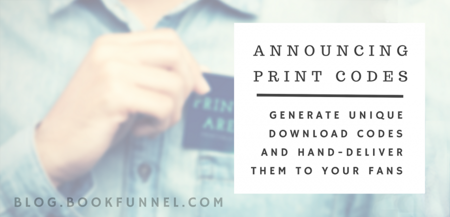 Announcing BookFunnel Print Codes