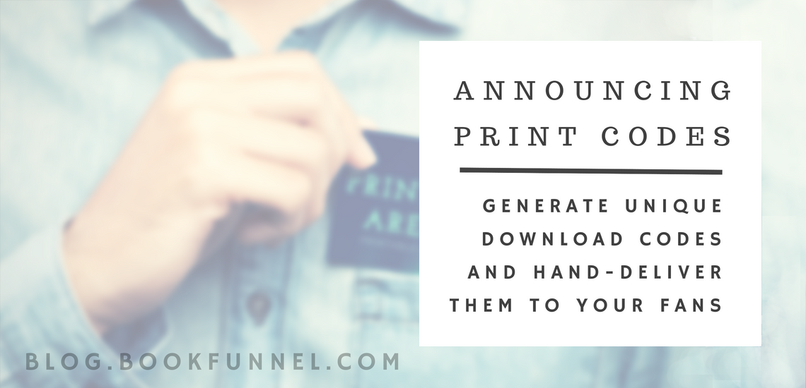 Ebooks in your Pocket: Announcing BookFunnel Print Codes