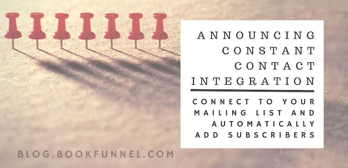 Announcing Constant Contact Integration